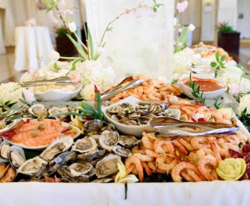 oyster wedding food station ideas