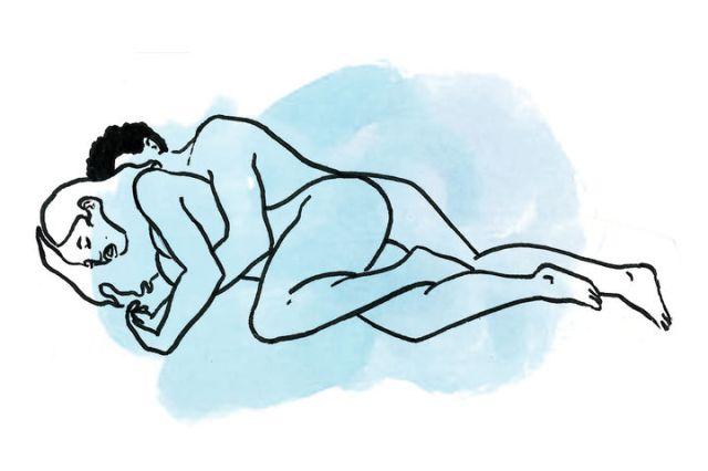sex position spooning sex