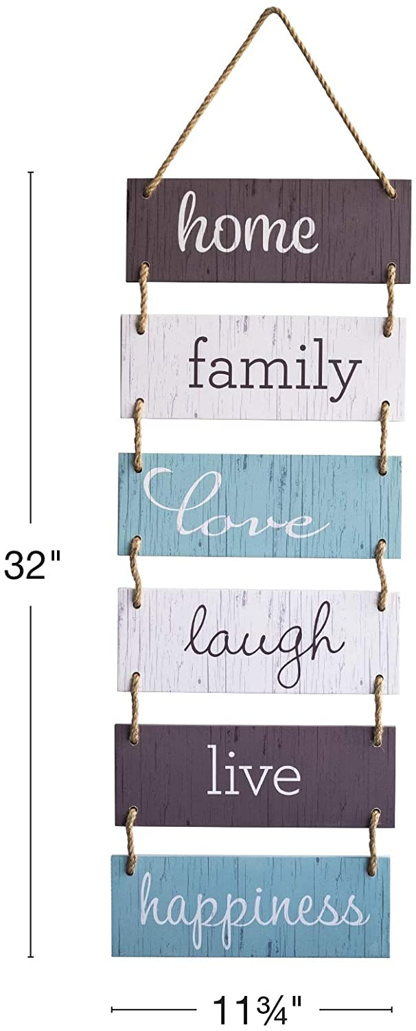 Large Hanging Wall Sign Rustic Wooden Decor