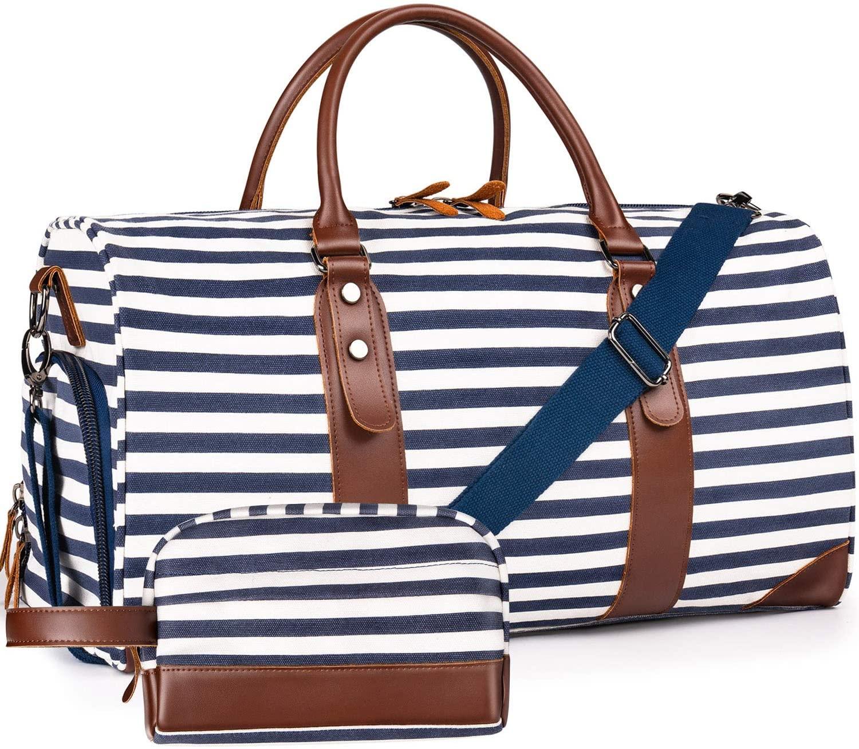 Weekender Bags Canvas Leather Duffle Bag
