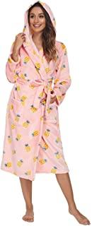 Printed Fleece Womens Robs