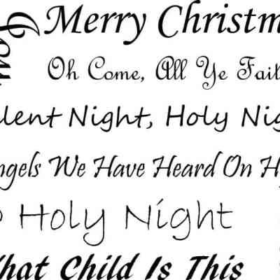 Free Christmas Carol Printable