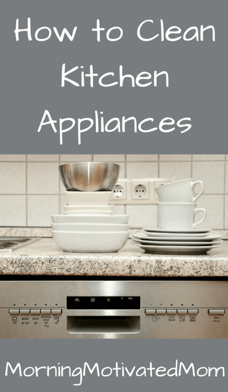 How to Clean Kitchen Appliances Oven Dishwasher Coffee Maker