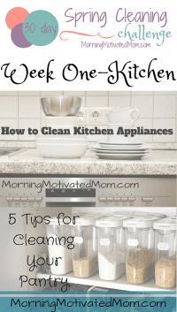 Spring Cleaning Challenge Kitchen
