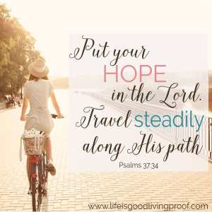 Tuesday Talk Feature. Travel Steadily Along His Paths