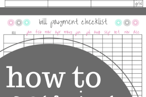 How to Organize Your Bills. Bill Organization Printables.