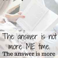 The Answer is More Time in Him: Putting God First