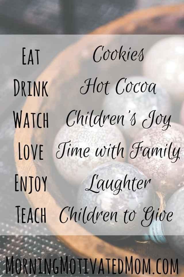 Merry Christmas...Eat, Drink, Watch, Love, Enjoy, Teach, Adore, Need, Wonder, Sing