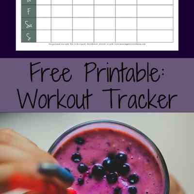 Free Fitness Tracker Printable