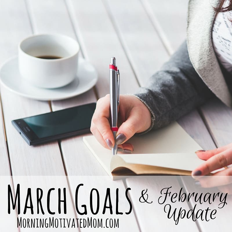 Monthly Goals: March. Monthly Goalsetting.