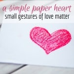 A Simple Paper Heart