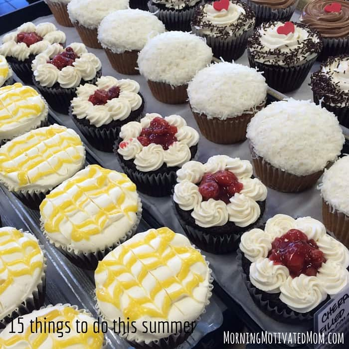 15 things to do this summer. Visit a new bakery or donut shop.