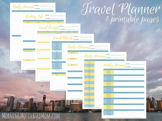 Travel Planner Printables 5
