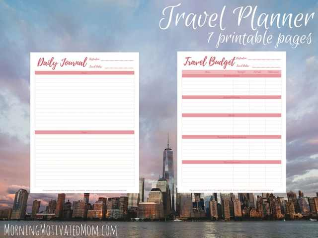 Travel Planner Printables (8)
