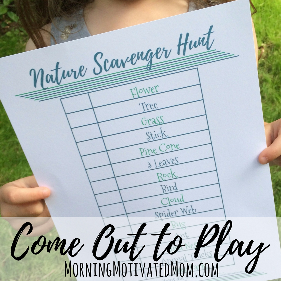 Get Outdoors With Your Kids Amp Nature Scavenger Hunt Printable
