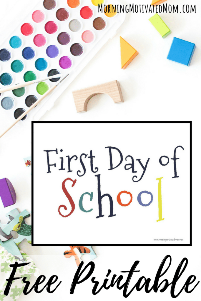 First Day of School Printable. Free Back to School Printables. Children's printables for pre-school through 8th grade.