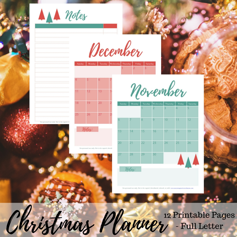 Get organized and minimize your stress this holiday and Christmas season with this 12 page Christmas Planner printable. Plus: print off the free gift list printable. Includes: Christmas Card List, Recipe List, Notes, Party Planner, Menu Planner, Traditions and Memories, Gift List, To-Do List, Christmas Budget Page, November and December holiday calendars.