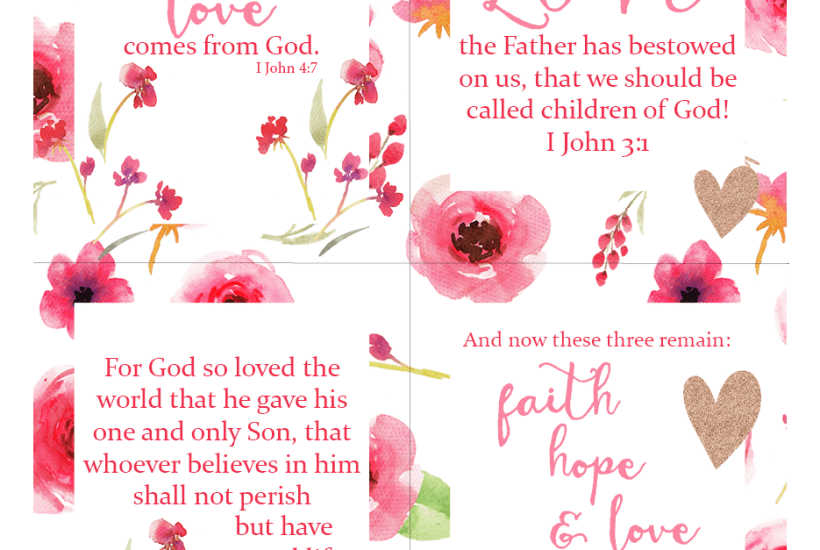 Free Bible Passage Scripture Love Printables