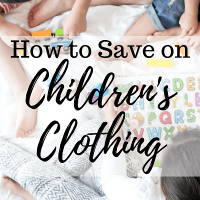 How to Save on Children's Clothing