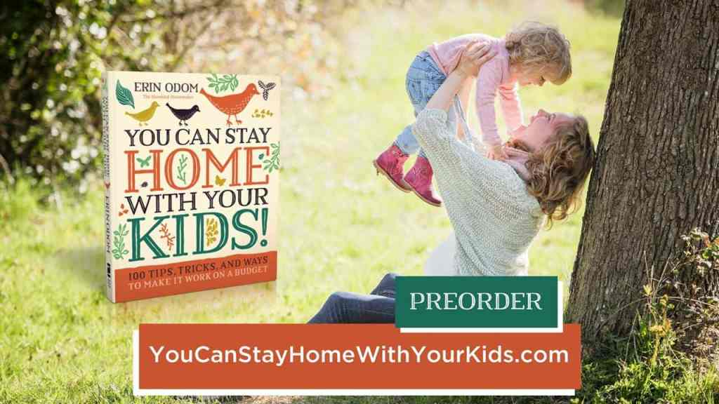 How to Stay Home with Your Children. Check out You Can Stay Home with Your Kids. 100 Tips, Tricks, and Ways to Make it Work on a Budget. This book is a great resource from Erin of The Humbled Homemaker.