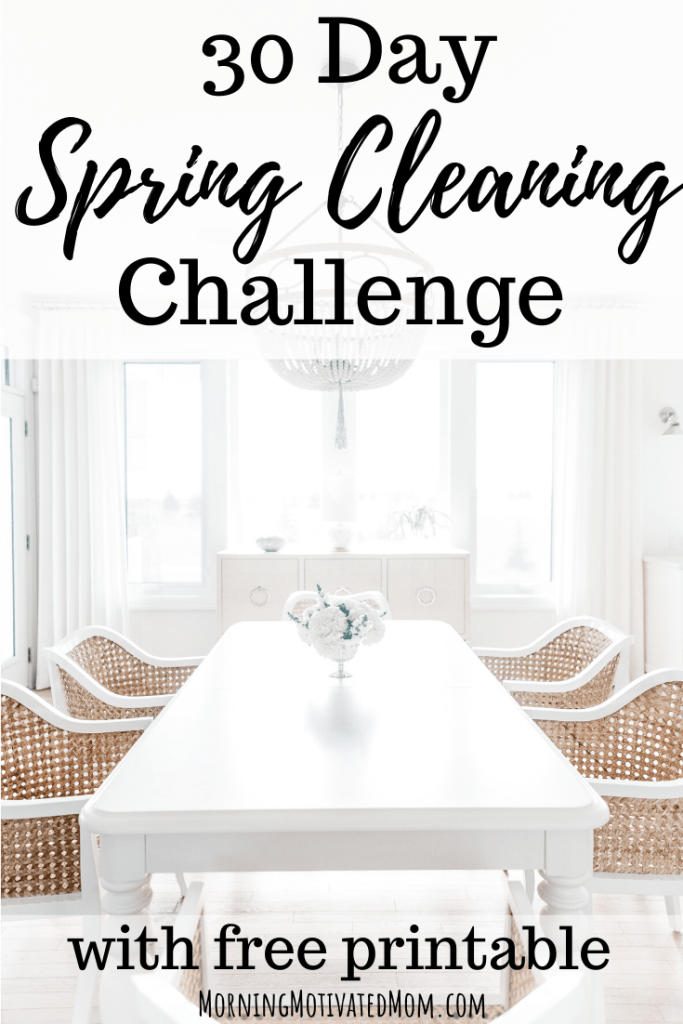 Get organized and clean your home with this FREE 30 Day Spring Cleaning Challenge. Get the Cleaning List Printable to help you stay organized on on task. | Spring Cleaning | How to Clean Your Home for Spring