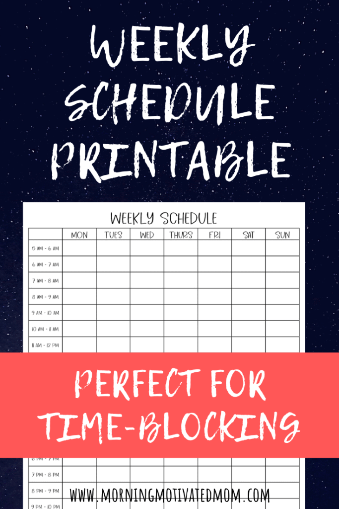 Taking time to plan out your week on this Weekly Planning Printable will help you plan out what your ideal week will look like for you. This printable weekly schedule will help you stay on track during your week. This free planning printable also works as a weekly time blocking printable and a week at a glance printable. #timeblocking #weeklyschedule #planning