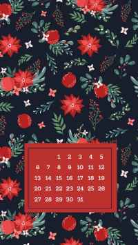 Festive and Pretty December Lockscreen Background for Phone. Brighten up your phone for the entire month of December. Festive for the holiday season!