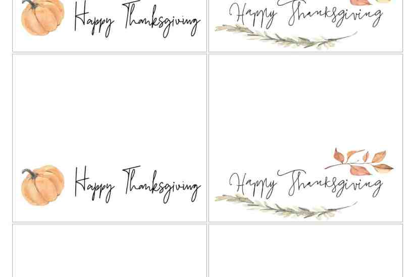 Make your Thanksgiving table a bit more festive! Print off these free Thanksgiving Placecards. Handwrite the names if you choose. #thanksgiving #happythanksgiving #thanksgivingtable