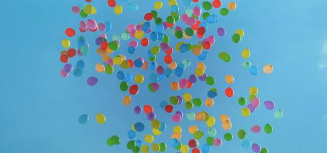 EMDR. Colorful balloons.