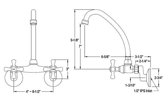 standard kitchen faucet size