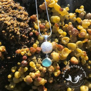 Mornington Sea Glass Sea Urchin Aqua Green Pendant