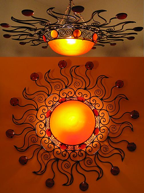 Moroccan Sun Moon Chandelier