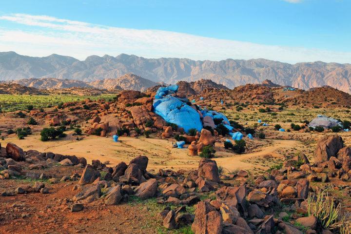 Painted rocks Tafraout Village