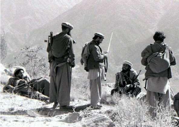 Mudschaheddin-Kämpfer 1987 in der Provinz Kunar in Afghanistan