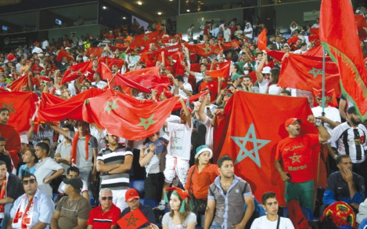 Image result for pic of morocco soccer fans in russia world cup