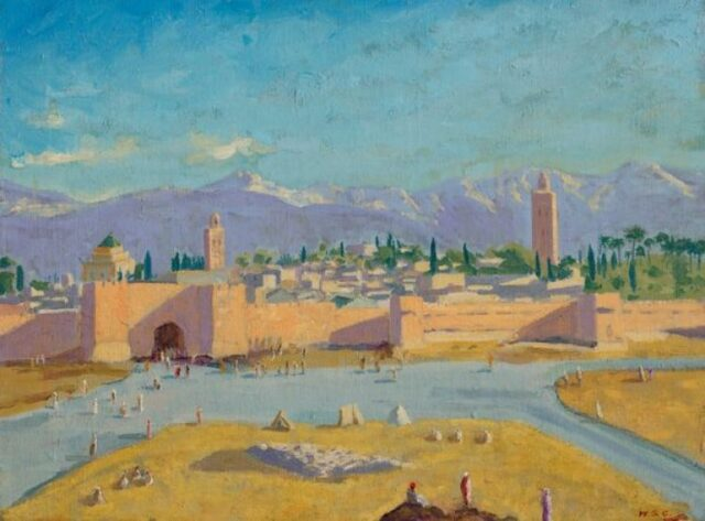 Image result for the tower of koutoubia mosque painting