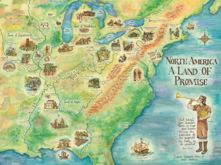 Maps      Moroni s America      The North American Setting for the Book     Below is more detail about the above North American map of the Book of  Mormon