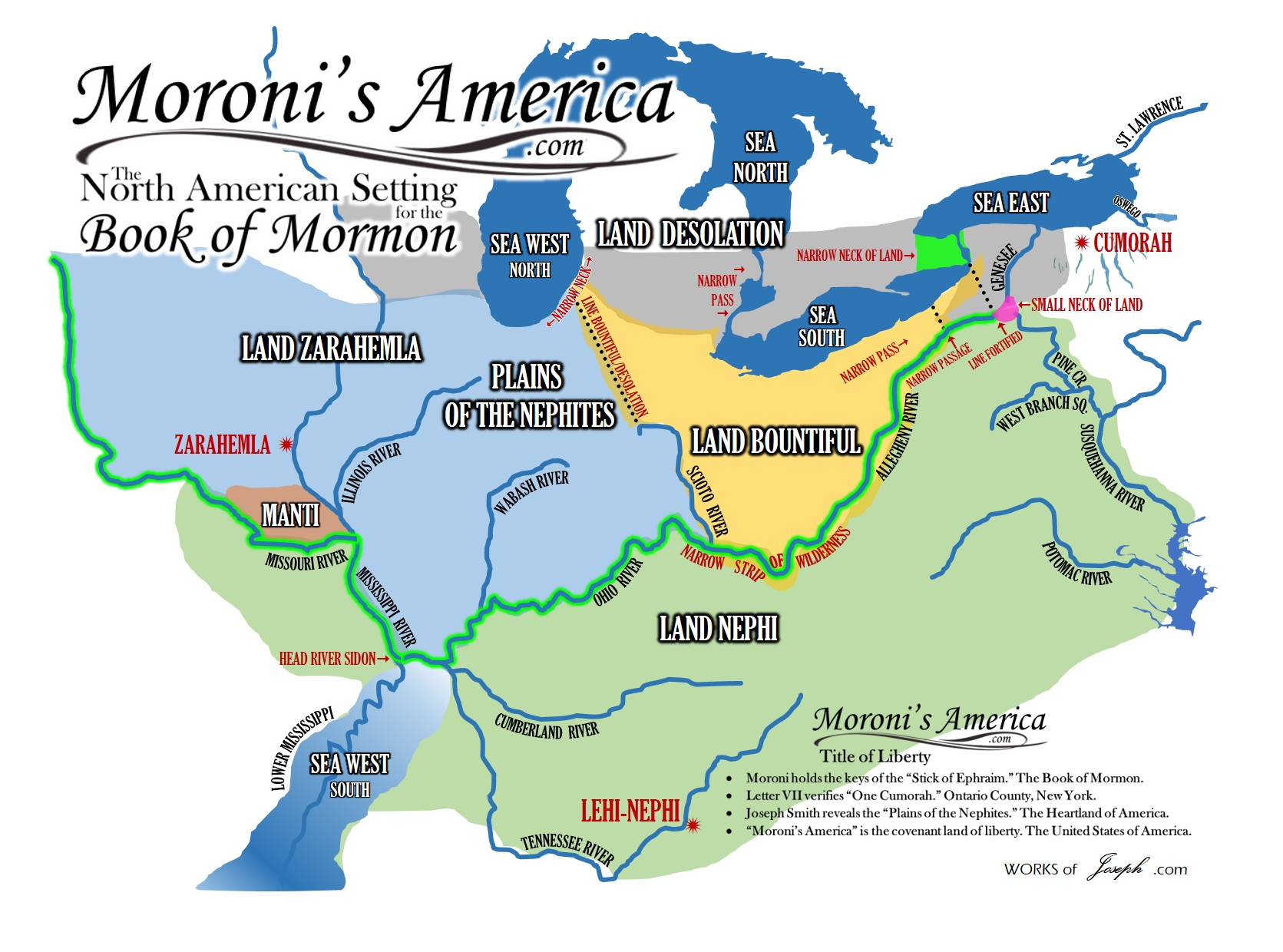 Maps  Moronis America  The North American Setting For The - A a large map of the usa