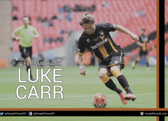 Luke Carr re-signs for Morpeth Town