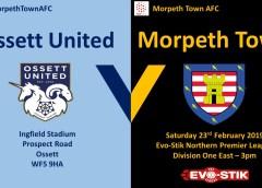 Match Preview   Ossett United v Morpeth Town