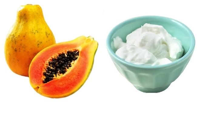 Curd and papaya remedy