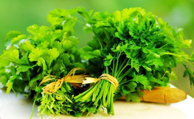Treatment with parsley
