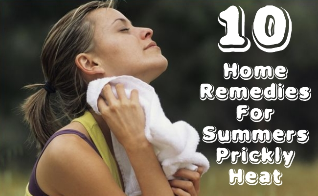 Home Remedies For Summers Prickly Heat