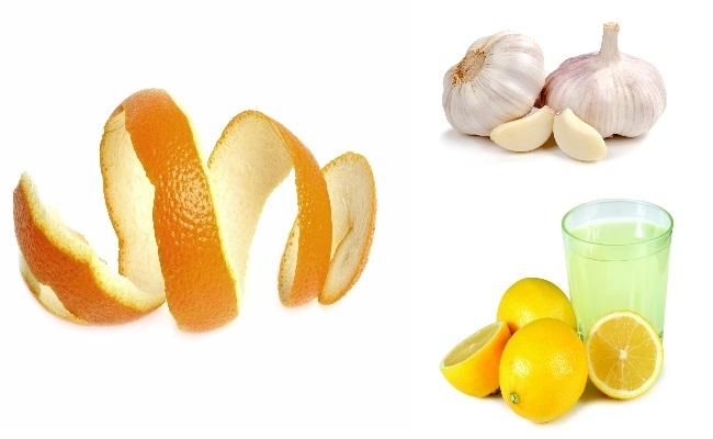 Lemon Juice, Garlic And Orange Peel