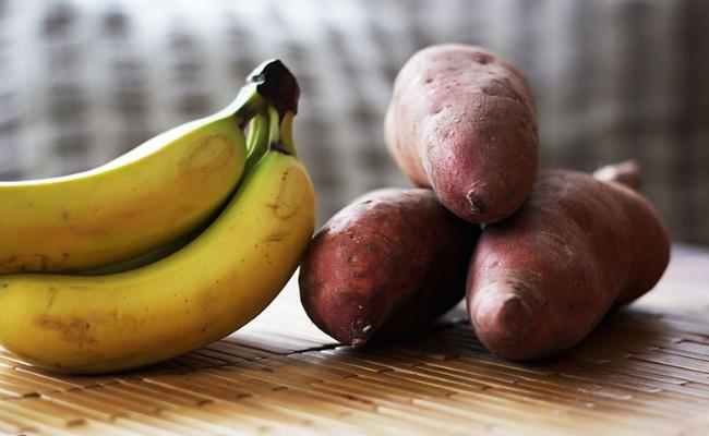 Bananas and baked potatoes