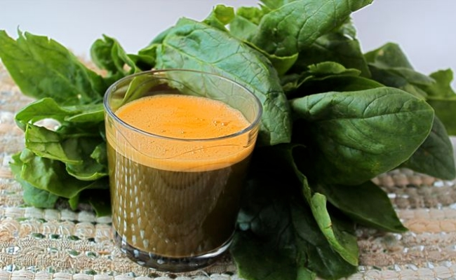 Carrot And Spinach Juice