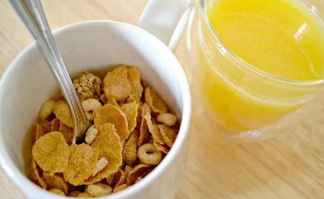 Cereal With Orange Juice