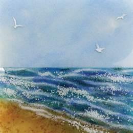 Birds By The Beach Design