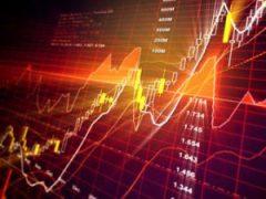 orange stock chart