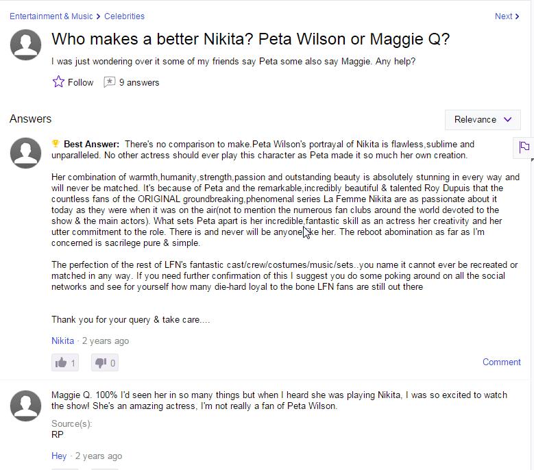 La Femme Nikita vs. Nikita
